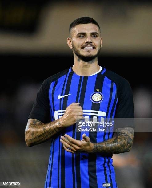 Mauro Icardi of FC Internazionale reacts during the PreSeason Friendly match between FC Internazionale and Villareal CF at Stadio Riviera delle Palme...