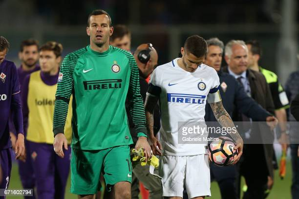 Mauro Icardi of FC Internazionale shows his dejection during the Serie A match between ACF Fiorentina v FC Internazionale at Stadio Artemio Franchi...