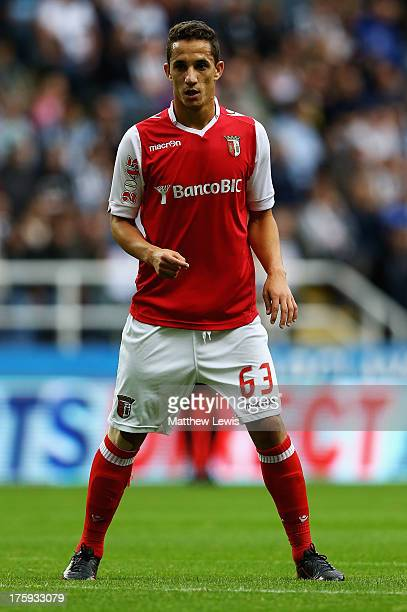 Mauro of Sporting Braga in action during a Pre Season Friendly between Newcastle United and Braga at St James' Park on August 10 2013 in Newcastle...