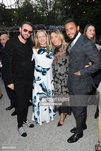 Mauro Porcini Lisa Ryan Howard guest and Pasquale Junior Natuzzi attend 'T Magazine The New York Times' Celebration of Milan Design Week on April 3...