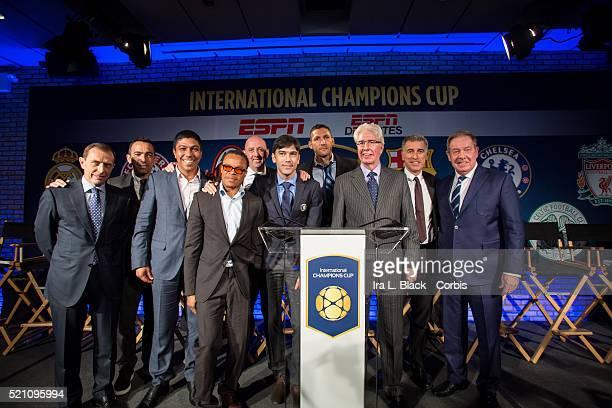 Mauro Tassotti of AC Milan Emilio Butragueno of Real Madrid Youri Djorkaeff of Paris Saint Germain Giovane Elber of FC Bayern Munchen Alan Birchenall...
