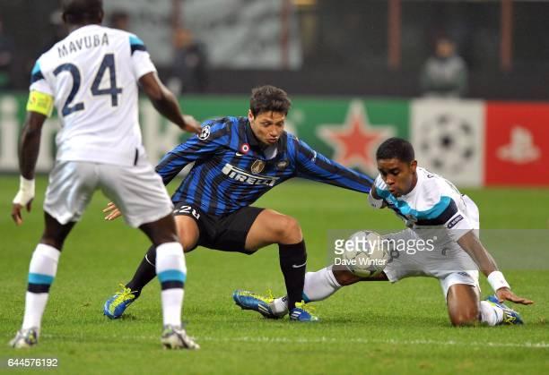 Mauro ZARATE / Franck BERIA Inter Milan / Lille Champions League Photo Dave Winter / Icon Sport