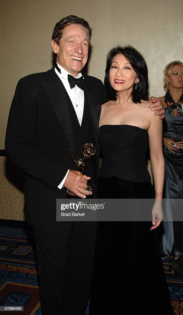 Maury Povich and wife Connie Chung pose for a picture at the 2006 New York Emmy Awards at the the Marriott Marquis on March 12, 2006 in New York City. Povich won the Governors award which is an honorary Emmy that recognizes outstanding achievements in the television industry.