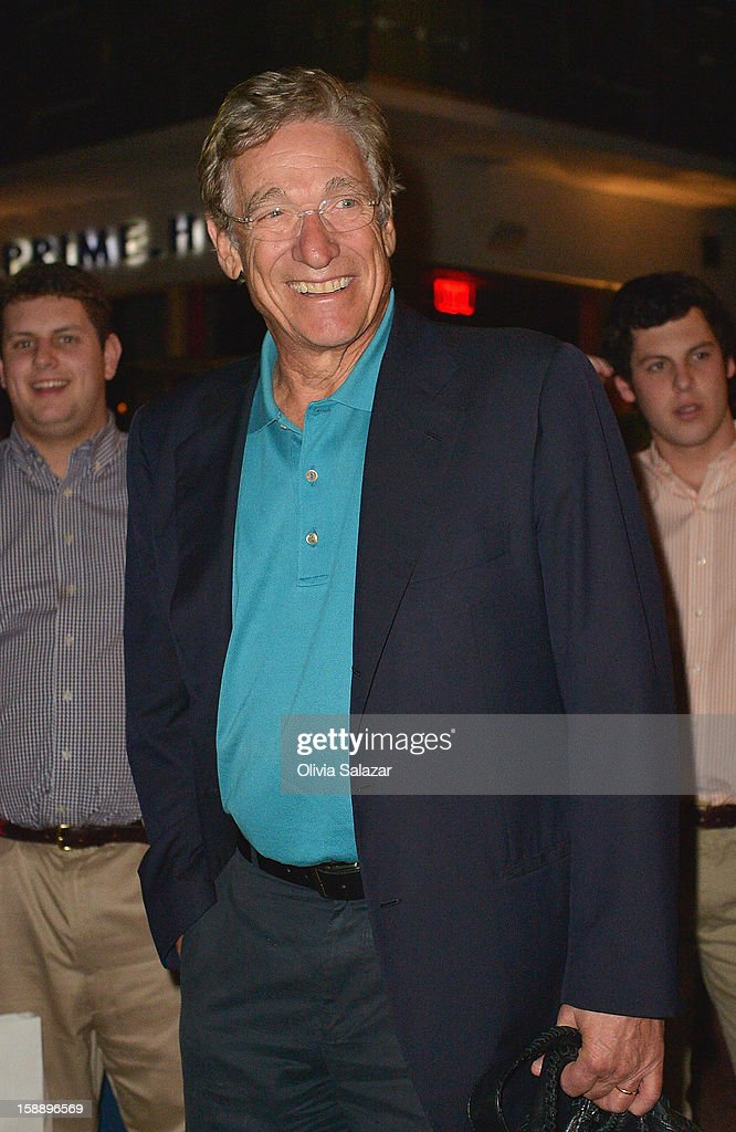 Maury Povich is seen at Prime 112 Steakhouse on January 2, 2013 in Miami Beach, Florida.