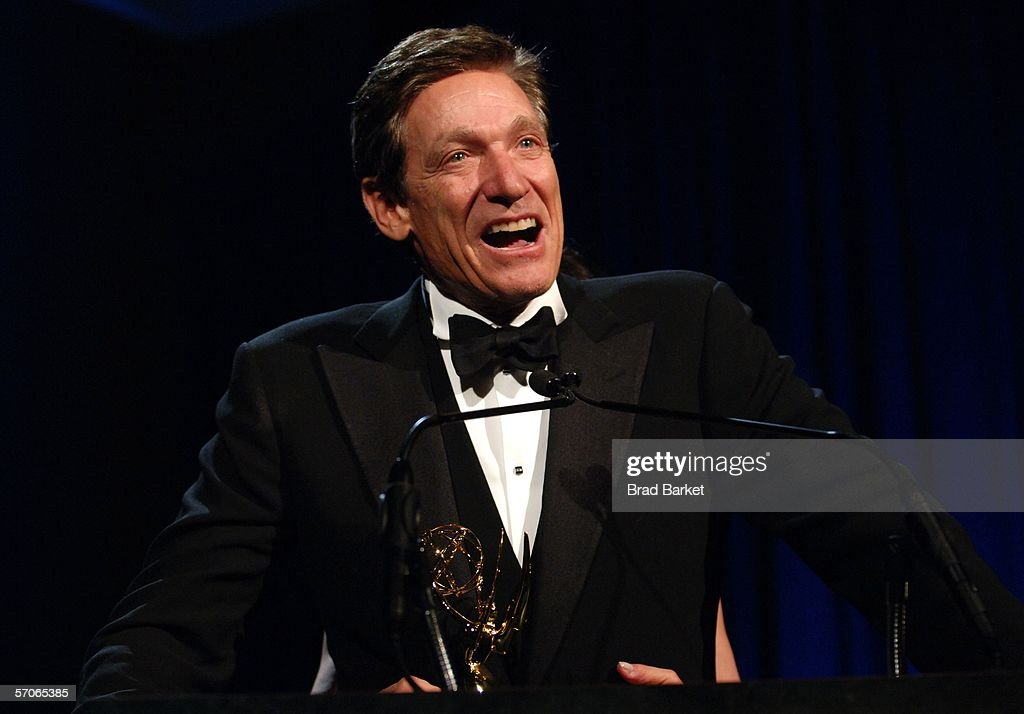Maury Povich speaks at the 2006 New York Emmy Awards at the the Marriott Marquis on March 12, 2006 in New York City. Povich won the Governors award which is an honorary Emmy that recognize outstanding achievements in the television industry