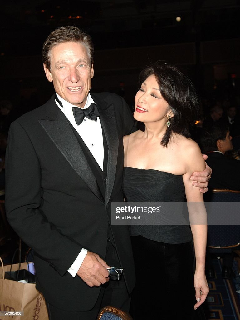 Maury Povichand wife Connie Chung pose for a picture at the 2006 New York Emmy Awards at the the Marriott Marquis on March 12, 2006 in New York City. Povich won the Governors award which is an honorary Emmy that recognizes outstanding achievements in the television industry.