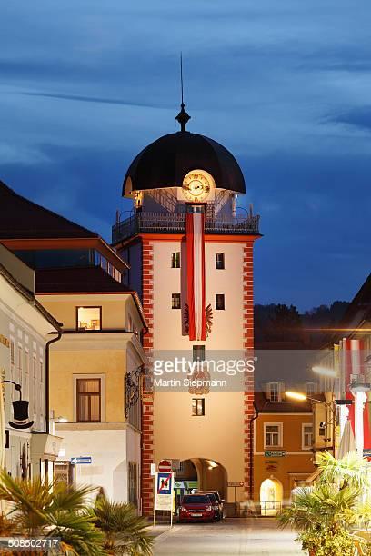 Mautturm tower, also known as Schwammerlturm tower, Leoben, Upper Styria, Styria, Austria, Europe, PublicGround