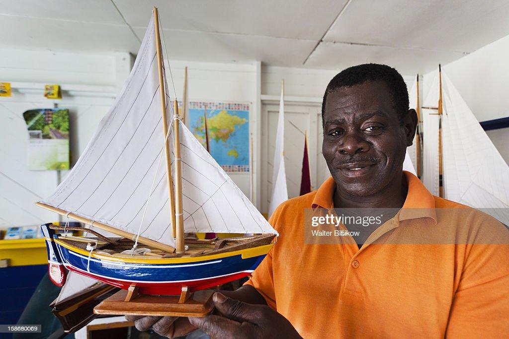 Mauvins Model Boat Shop, model maker : Stock Photo