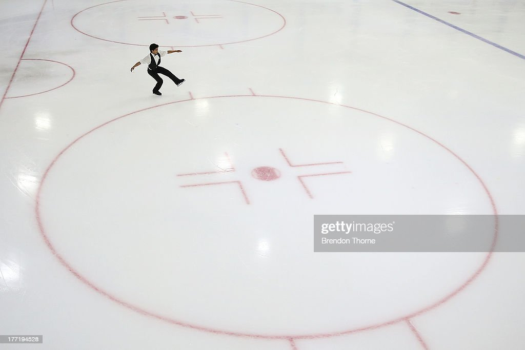 Maverick Eguia of Philippines competes in the Senior Mens Free Program during Skate Down Under at Canterbury Olympic Ice Rink on August 22, 2013 in Sydney, Australia.