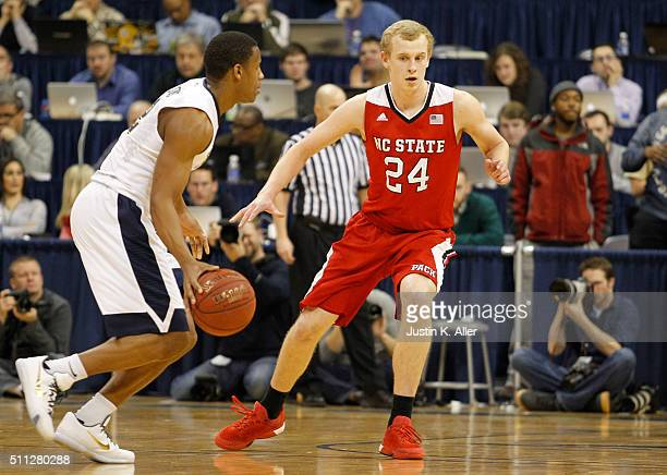 Maverick Rowan of the North Carolina State Wolfpack in action during the game against Chris Jones of the Pittsburgh Panthers at Petersen Events...