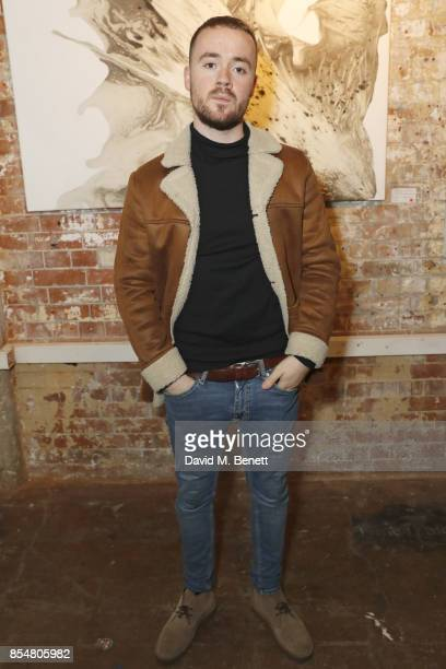 Maverick Sabre attends a private view of the 'Benbai Expo' at The Barge House Oxo Tower Wharf on September 27 2017 in London England