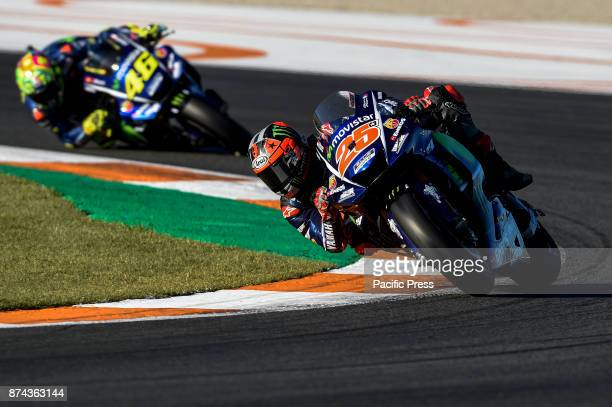 Maverick Vinales during Motogp test day at Valencia circuit