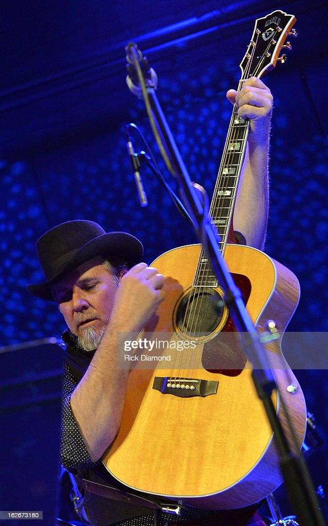 Mavericks member Robert Reynolds performs during The Mavericks Album release concert for there new album ' In Time' at The Bowery Ballroom on February 25, 2013 in New York City.