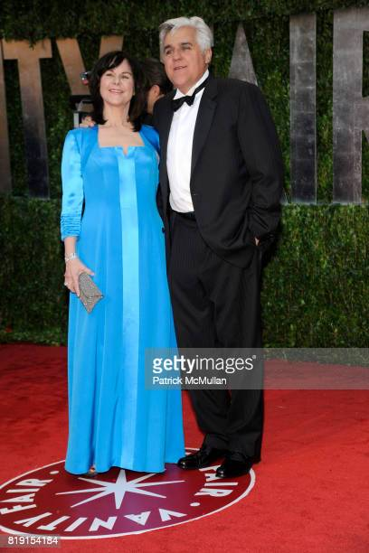 Mavis Nicholson and Jay Leno attend VANITY FAIR Oscar Party ARRIVALS at Sunset Tower Hotel on March 7 2010 in West Hollywood California