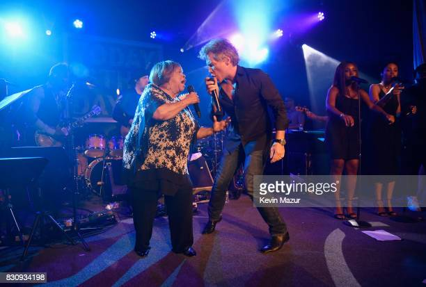 Mavis Staples and Jon Bon Jovi perform onstage at Apollo in the Hamptons 2017 hosted by Ronald O Perelman at The Creeks on August 12 2017 in East...