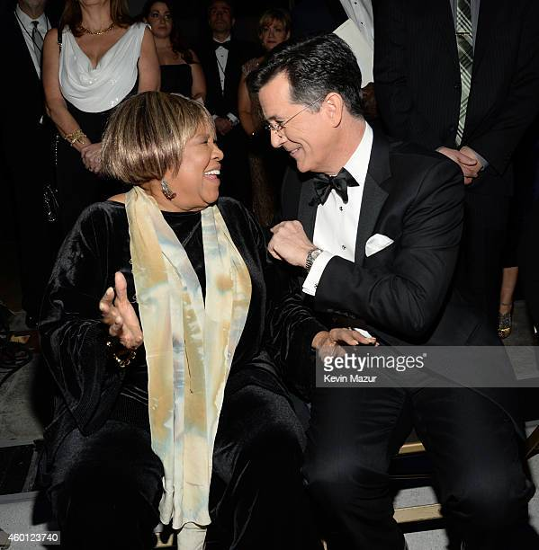 Mavis Staples and Stephen Colbert attend the 37th Annual Kennedy Center Honors at The John F Kennedy Center for Performing Arts on December 7 2014 in...