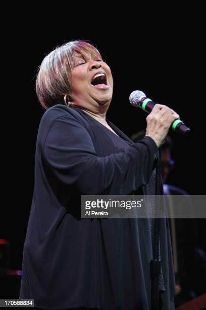 Mavis Staples performs at Celebrate Brooklyn at the Prospect Park Bandshell on June 14 2013 in New York City