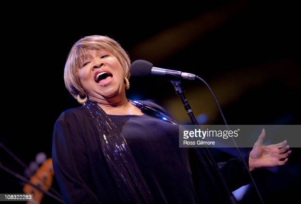 Mavis Staples performs on stage during Celtic Connections Festival at Glasgow Royal Concert Hall on January 21 2011 in Glasgow Scotland