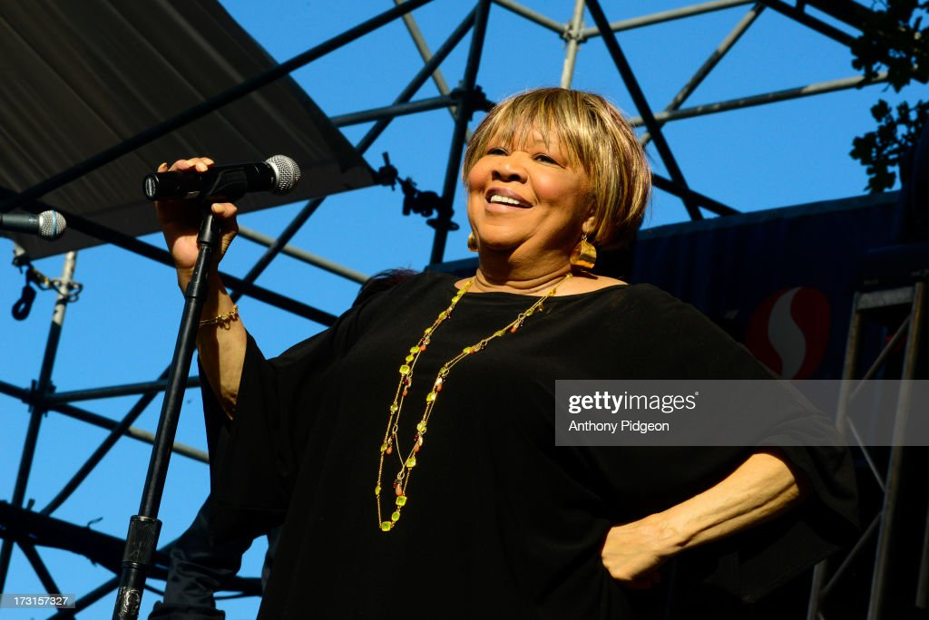 Mavis Staples performs on stage on Day 4 of Waterfront Blues Festival at Tom McCall Waterfront Park on July 7, 2013 in Portland, Oregon.