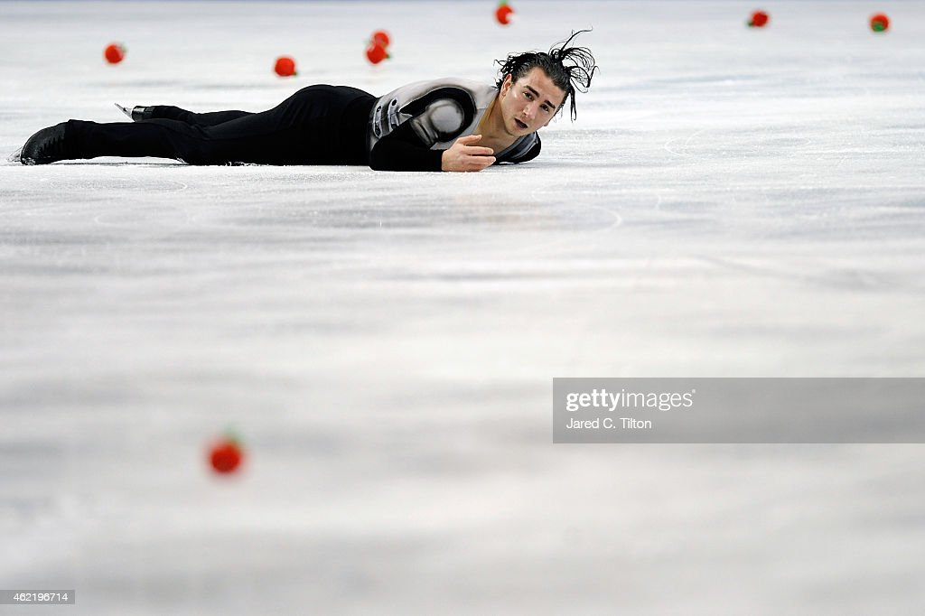 <a gi-track='captionPersonalityLinkClicked' href=/galleries/search?phrase=Max+Aaron&family=editorial&specificpeople=7380345 ng-click='$event.stopPropagation()'>Max Aaron</a> competes in the Championship Men's Free Skate Program Competition during day 4 of the 2015 Prudential U.S. Figure Skating Championships at Greensboro Coliseum on January 25, 2015 in Greensboro, North Carolina.