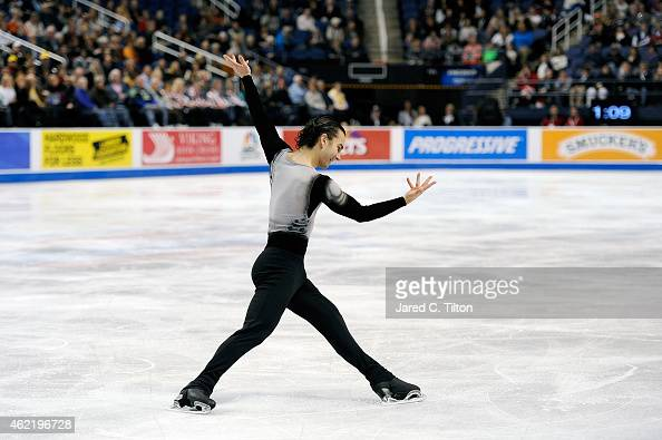 Max Aaron competes in the Championship Men's Free Skate Program Competition during day 4 of the 2015 Prudential US Figure Skating Championships at...