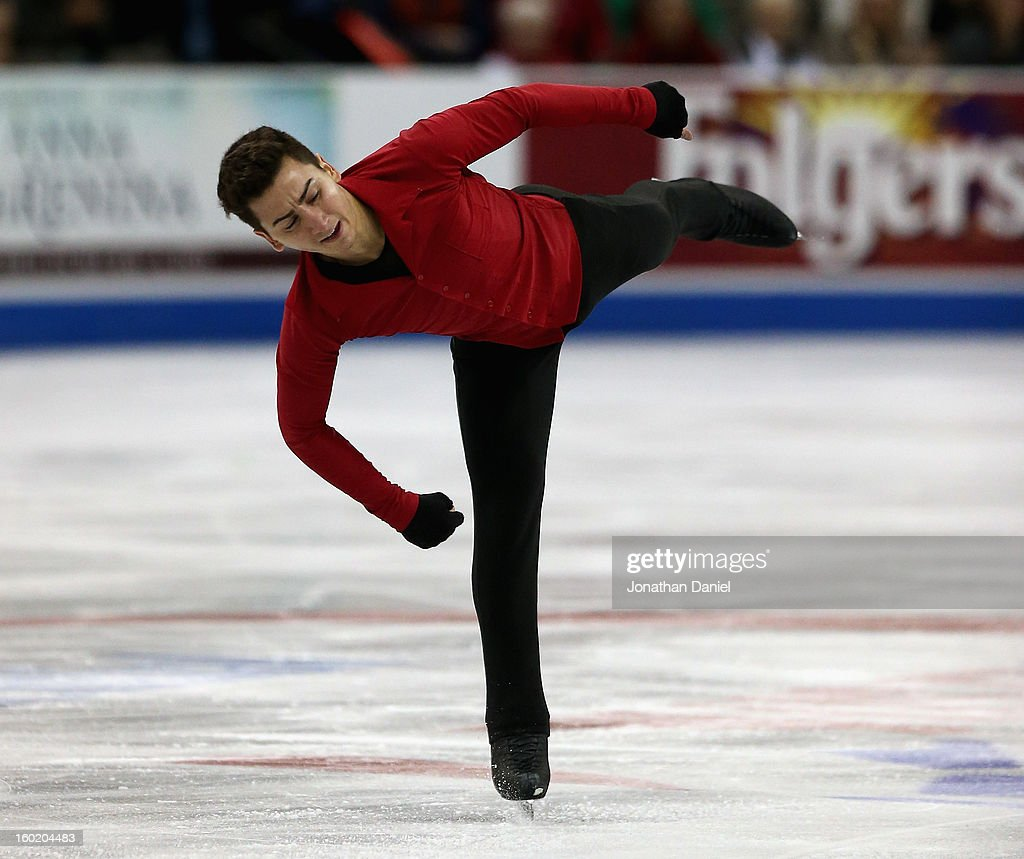 Max Aaron competes in the Mens Free Skate during the 2013 Prudential U.S. Figure Skating Championships at CenturyLink Center on January 27, 2013 in Omaha, Nebraska.