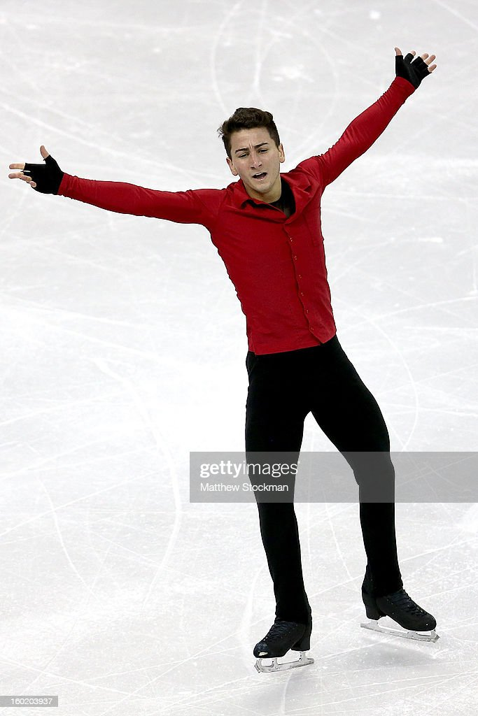 Max Aaron competes in the Men's Free Skate duringthe 2013 Prudential U.S. Figure Skating Championships at CenturyLink Center on January 27, 2013 in Omaha, Nebraska.