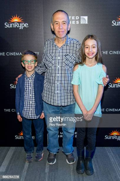 Max Aaron Gottfried Gilbert Gottfried and Lily Aster Gottfried attend Disneynature with the Cinema Society host the premiere of 'Born in China' at...