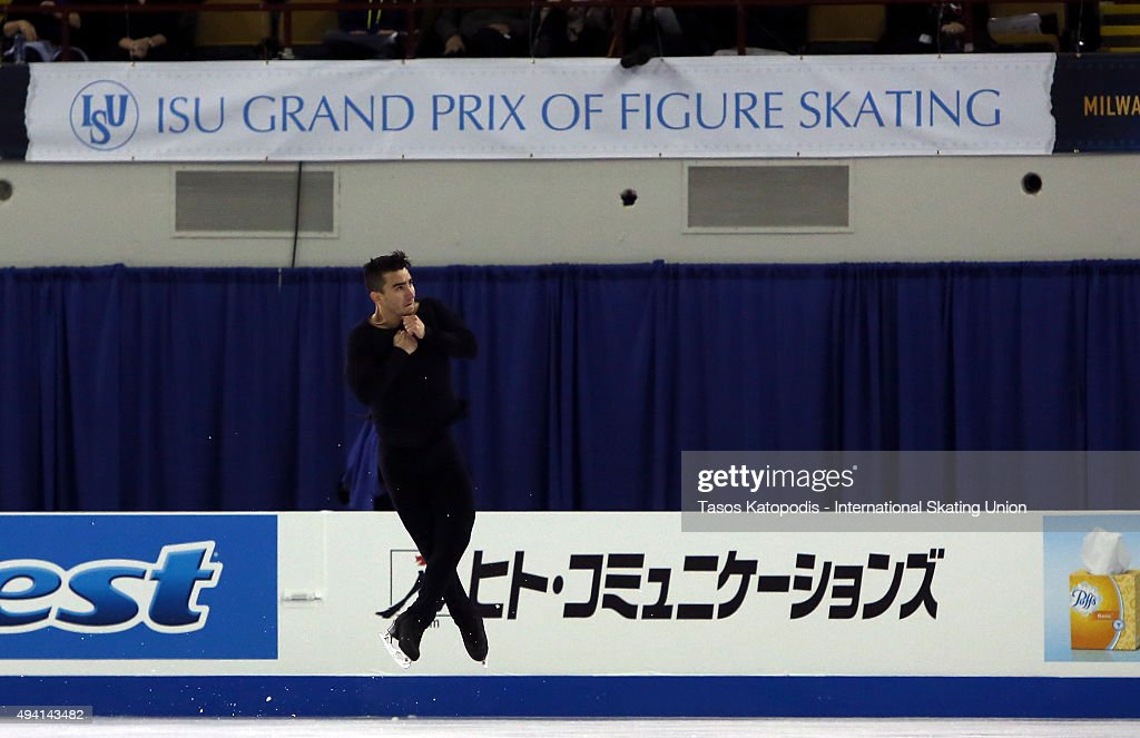 <a gi-track='captionPersonalityLinkClicked' href=/galleries/search?phrase=Max+Aaron&family=editorial&specificpeople=7380345 ng-click='$event.stopPropagation()'>Max Aaron</a> of USA performs in the mens free skate in October 24, 2015 in Milwaukee, Wisconsin.