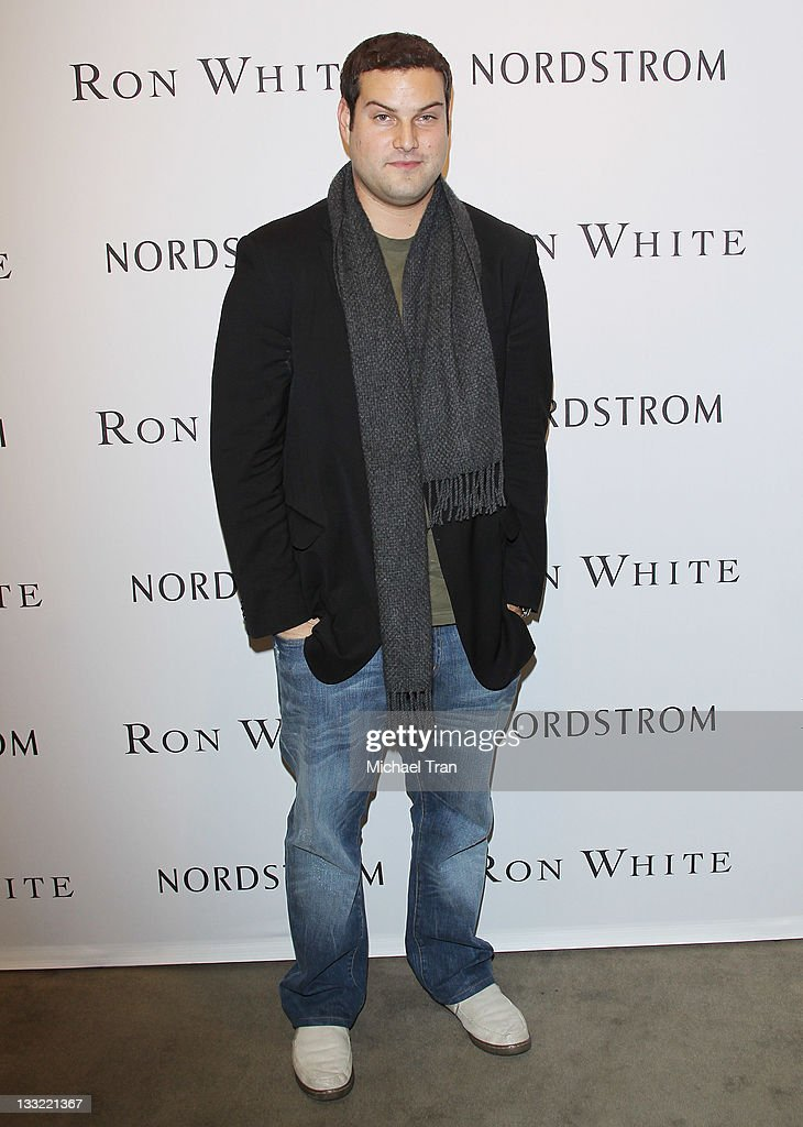 <a gi-track='captionPersonalityLinkClicked' href=/galleries/search?phrase=Max+Adler&family=editorial&specificpeople=2070244 ng-click='$event.stopPropagation()'>Max Adler</a> attends the Ron White shoe collection launch and charity event held at Nordstrom at the Grove on November 17, 2011 in Los Angeles, California.