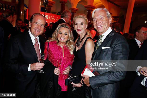 Max and Gundel Schautzer and Jo Groebel and Grit Weissattend the Busche Gala at K21 and Breidenbacher Hof on October 27 2014 in Duesseldorf Germany