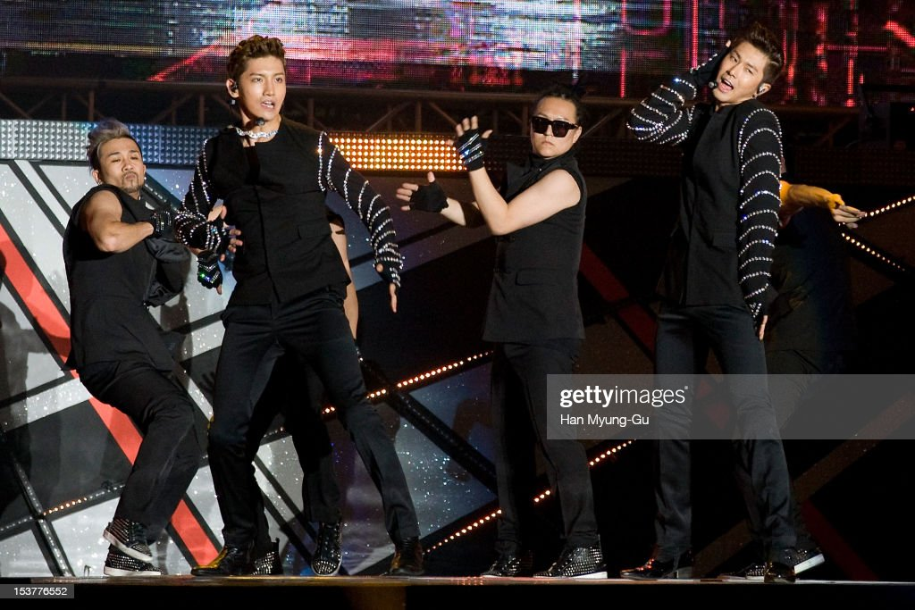 Max and <a gi-track='captionPersonalityLinkClicked' href=/galleries/search?phrase=U-Know&family=editorial&specificpeople=8263253 ng-click='$event.stopPropagation()'>U-Know</a> of South Korean boy band TVXQ performs onstage during the 2012 Gangnam Festival on October 7, 2012 in Seoul, South Korea.