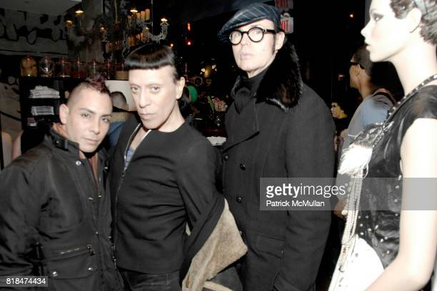 Max Antonio Joey Arias and Patrick McDonald attend SUSANNE BARTCH and DAVID BARTON host the Launch of REEM at David Barton Gym on January 22 2010 in...