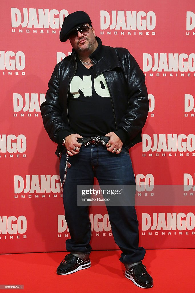 G Max attends the 'Django Unchained' premiere at Cinema Adriano on January 4, 2013 in Rome, Italy.