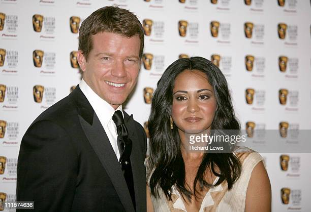 Max Beasley and Parminda Nagra during The 2006 British Academy Television Awards Press Room at Grosvenor House in London Great Britain