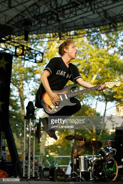 Max Becker of the SWMRS performs in concert in New York New York at Central Park SummerStage on July 31 2017 in New York City