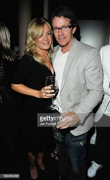 Max Beesley and guest attend the Sanctum Soho Hotel Launch Party at the Sanctum Soho Hotel on April 23 2009 in London England