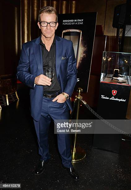Max Beesley attends the launch of the Tonino Lamborghini Antares Smartphone at No 41 Mayfair on May 29 2014 in London England