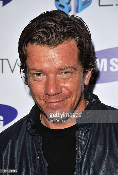 Max Beesley attends the launch party for Samsung 3D Television at the Saatchi Gallery on April 27 2010 in London England