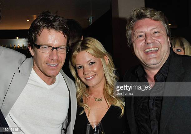 Max Beesley Mark Fuller and guest attend the Sanctum Soho Hotel Launch Party at the Sanctum Soho Hotel on April 23 2009 in London England