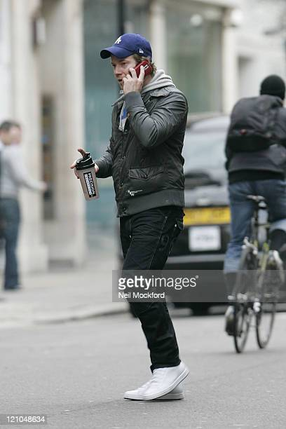Max Beesley sighted walking through Soho on January 26 2010 in London England