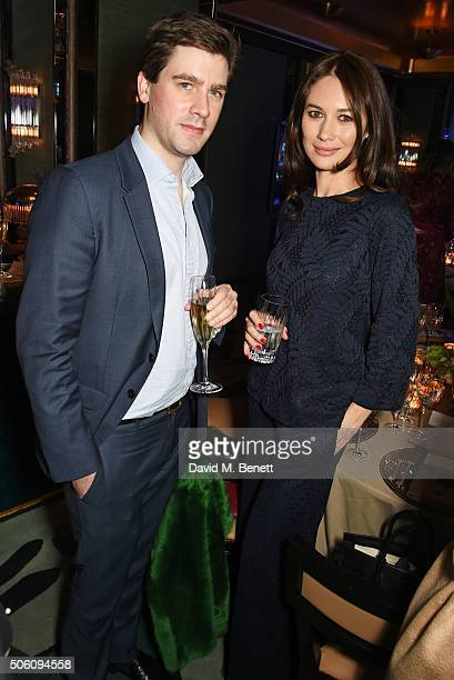 Max Benitz and Olga Kurylenko attend a private dinner hosted by Creme de la Mer to celebrate the launch of Genaissance de la Mer the Serum Essence...