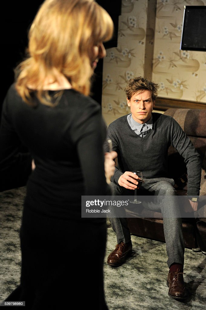 Max Bennett as Tom and Wendy Nottingham as Pam in David Eldridge's In Basildon directed by Dominic Cooke at the Royal Court in London