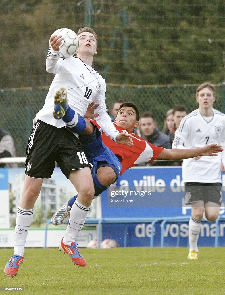 Max Besuschkow of Germany during the International Friendly match between U16 Germany and U16 Chile on March 26, 2013 in La Roche-sur-Yon, France.