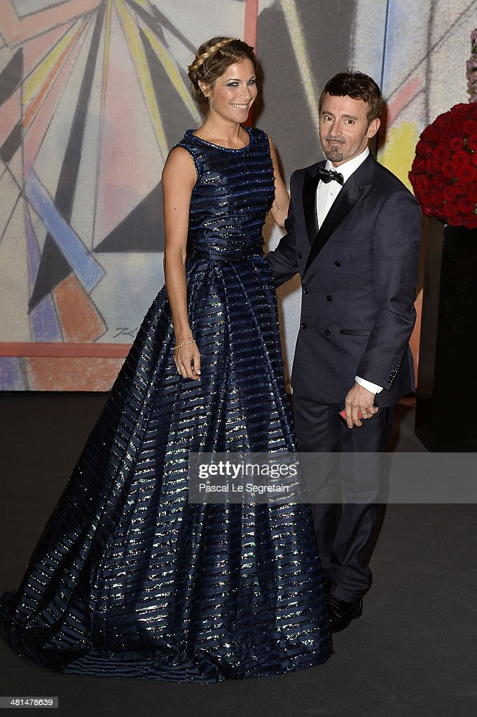 Max Biaggi (R) and guest attend the Rose Ball 2014 in aid of the Princess Grace Foundation at Sporting Monte-Carlo on March 29, 2014 in Monte-Carlo, Monaco.