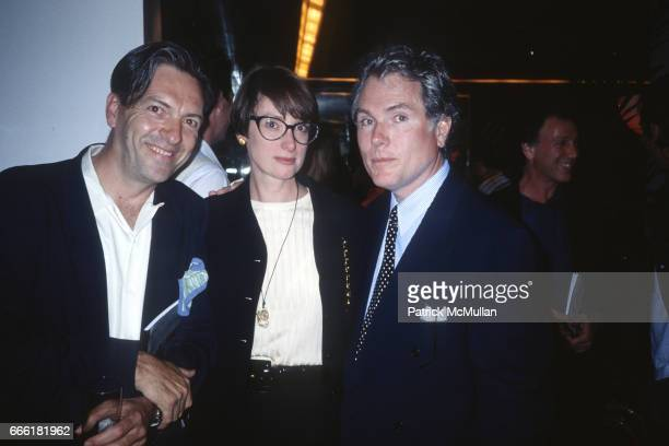 Max Blagg Barbara O'Brien and Glenn O'Brien photographed by Patrick McMullan in the 1990s in New York City