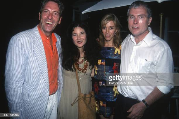 Max Blagg Tama Janowitz Paige Powell and Glenn O'Brien attend Paper Magazine Party for Tama Janowitz on July 24 1999 in New York City