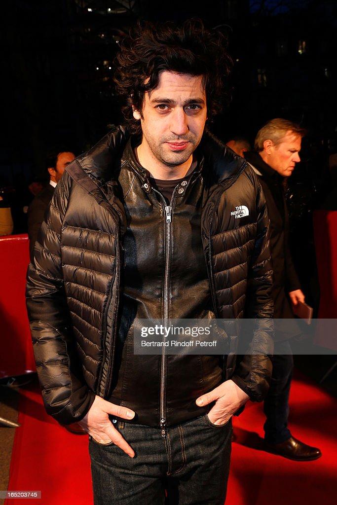 Max Boublil attends 'Des gens qui s'embrassent' movie premiere at Cinema Gaumont Marignan on April 1, 2013 in Paris, France.