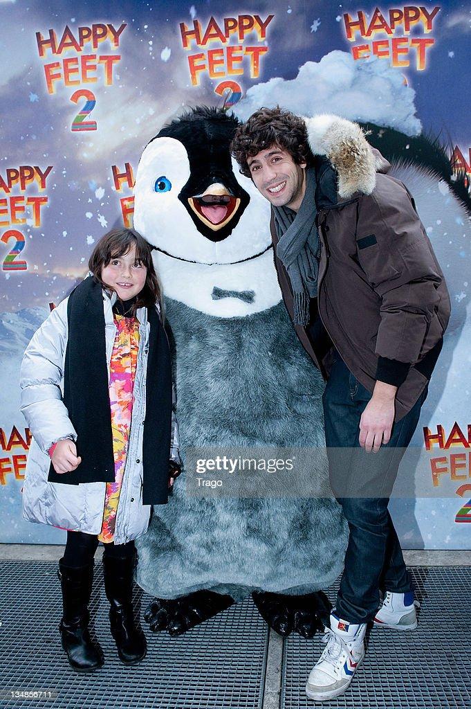 Max Boublil attends 'Happy Feet 2' Paris Premiere at Gaumont Capucines on December 4, 2011 in Paris, France.