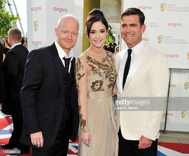 Max Branning Jacqueline Jossa and Scott Maslen arrive at the Arqiva British Academy Television Awards 2012 at Royal Festival Hall on May 27 2012 in...